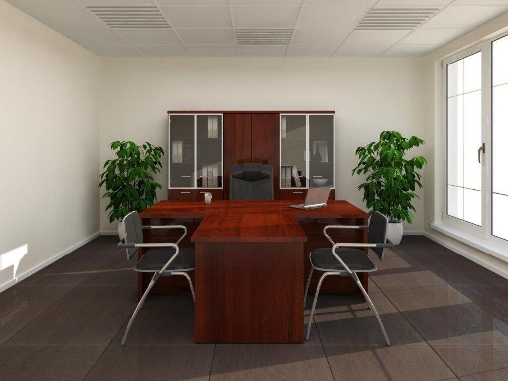 отделка офисов фото кабинет руководителя